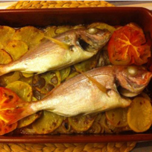 Pagell al forn