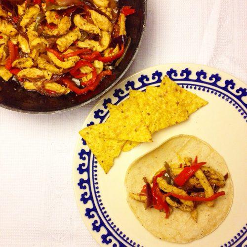 Tacos de pollastre
