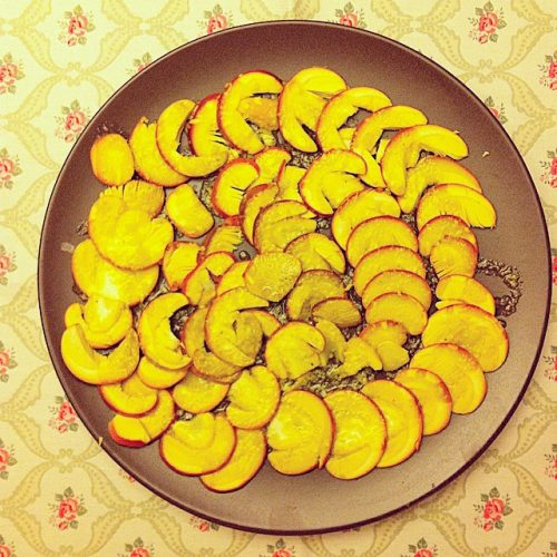 Carpaccio ou de reig amb vinagreta