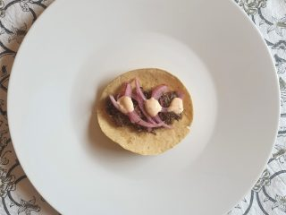 Tacos de carrillera de cerdo ibérico