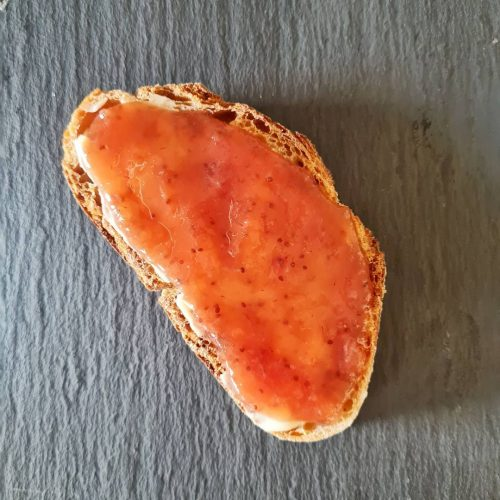 Mermelada de fresa y manzana